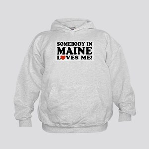 Somebody in Maine Loves Me Kids Hoodie