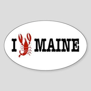 I Love Maine Oval Sticker