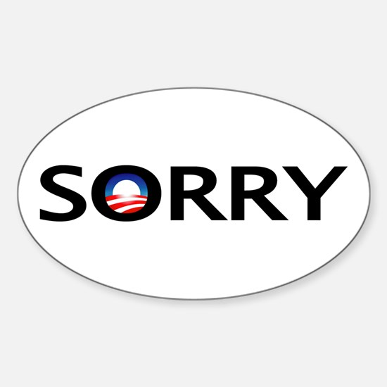 SORRY Oval Decal