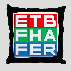 EFF THE BAR Throw Pillow