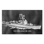 USS CLAUD JONES Sticker (Rectangle 10 pk)