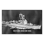 USS CLAUD JONES Sticker (Rectangle)