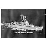USS CLAUD JONES Large Poster