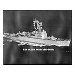 USS CLAUD JONES Small Poster