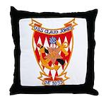USS CLAUD JONES Throw Pillow