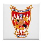USS CLAUD JONES Tile Coaster