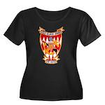 USS CLAU Women's Plus Size Scoop Neck Dark T-Shirt