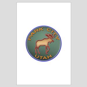 Park City Moose Designs Large Poster