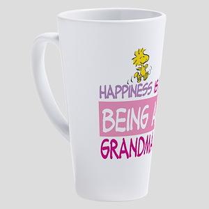 HappinessIsGrandma 17 oz Latte Mug
