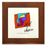Cubist Man Framed Tile