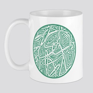 Green Scribble Design Mug