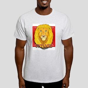 Untamed Lion Ash Grey T-Shirt