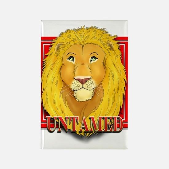 Untamed Lion Rectangle Magnet
