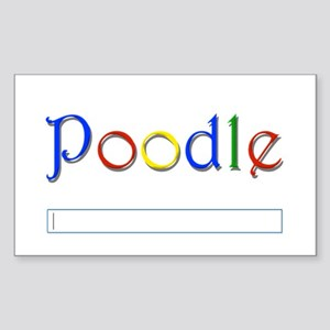Poodle Google Spoof Rectangle Sticker