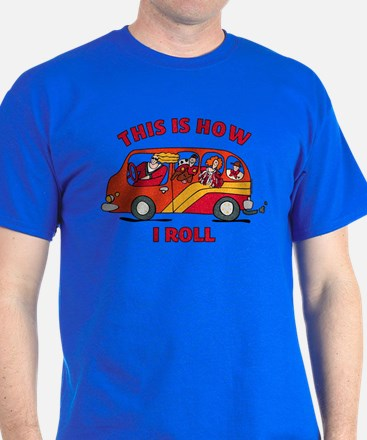 How I Roll Mom Minivan T-Shirt
