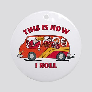How I Roll Mom Minivan Ornament (Round)