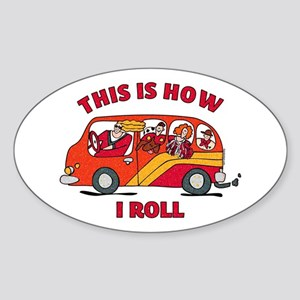 How I Roll Mom Minivan Oval Sticker