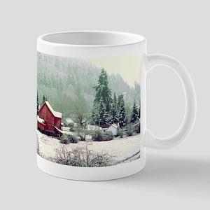 Oregon Farm in Snow Mug