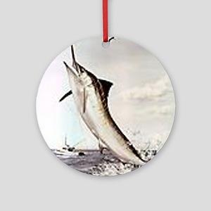 Striped Marlin Round Ornament