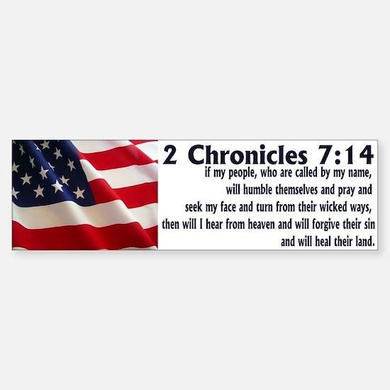 2 Chronicles 7:14 Bumper Bumper Bumper Sticker