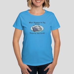 Happens On The Cruise Women's Dark T-Shirt