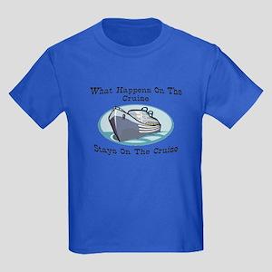 Happens On The Cruise Kids Dark T-Shirt