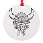 Ballard Lodge Logo Round Ornament