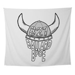 Ballard Lodge Logo Wall Tapestry