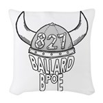 Ballard Lodge Logo Woven Throw Pillow