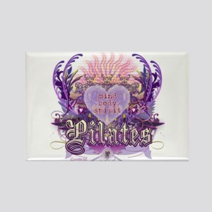 Pilates Chantilly Lace Rectangle Magnet