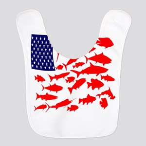 FREEDOM FISH Polyester Baby Bib