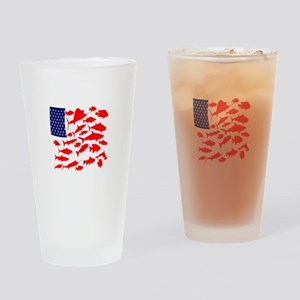 FREEDOM FISH Drinking Glass