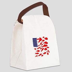 FREEDOM FISH Canvas Lunch Bag