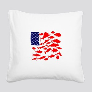 FREEDOM FISH Square Canvas Pillow