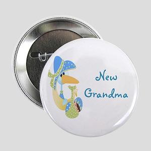 """New Grandma (blue) 2.25"""" Button"""