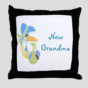 New Grandma (blue) Throw Pillow