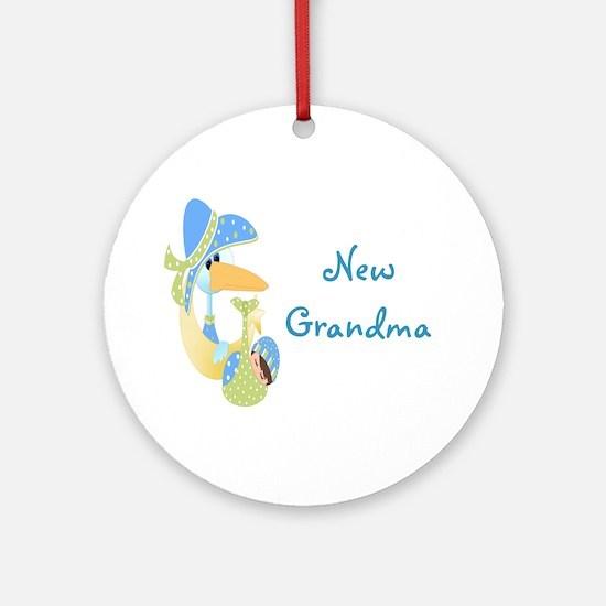 New Grandma (blue) Ornament (Round)