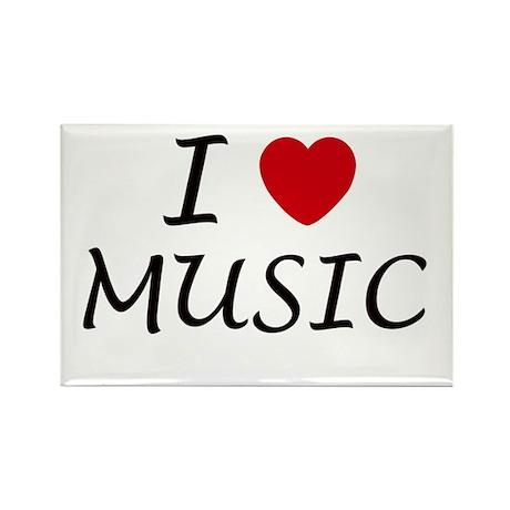 I heart music Rectangle Magnet