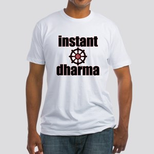 Instant Dharma wheel of life Fitted T-Shirt