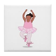 Wholesome Pirouetting Ballerina Tile Coaster