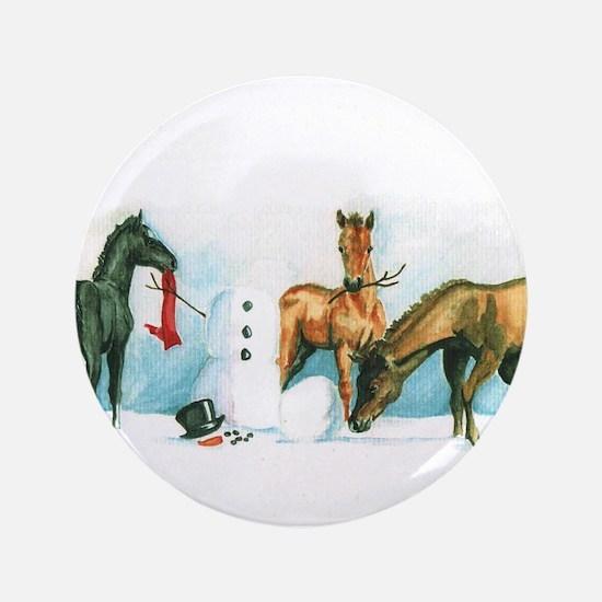 """Snow Foals 3.5"""" Button"""