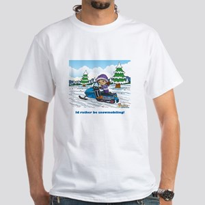 Fiaba's Snowmobile Adventure White T-Shirt