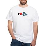 I Love Rocks White T-Shirt