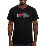 I Love Rocks Men's Fitted T-Shirt (dark)