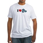 I Love Rocks Fitted T-Shirt