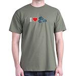 I Love Rocks Dark T-Shirt