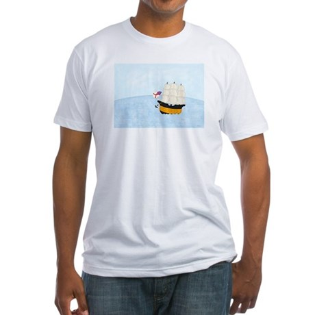 Ship at Sea Fitted T-Shirt