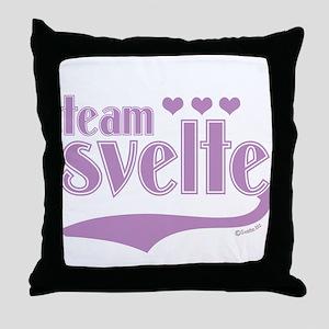 Team Svelte Lilac Hearts Throw Pillow