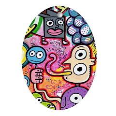 Poptoon #1 Oval Ornament