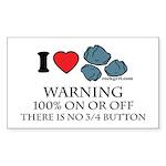 Love Rocks + Warning Rectangle Sticker